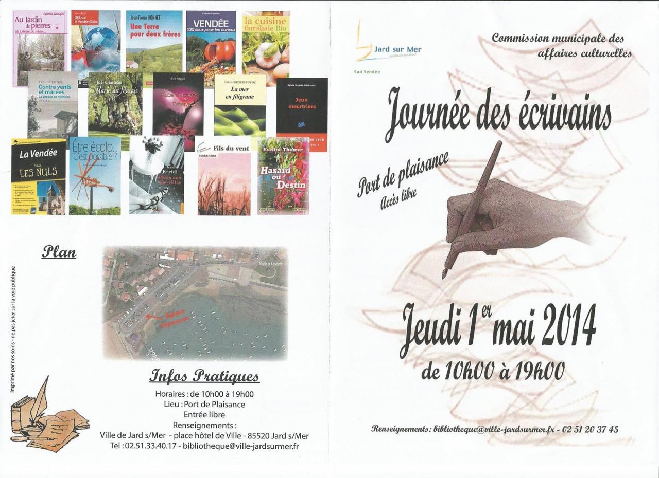Journée des écrivains Jard sur Mer 1er mai 2014