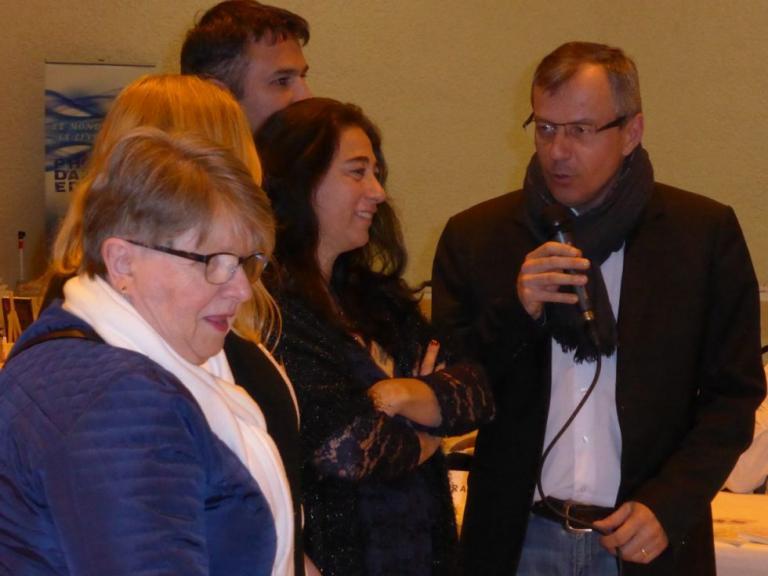 inauguration du salon par le maire de Peyrolles